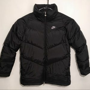 New Nike Goose Down Puffer Jacket Mens Large Black